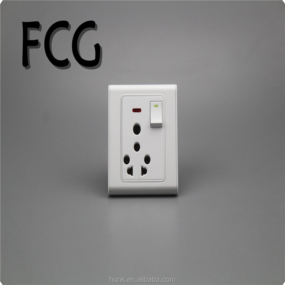 Wall Switch and Socket 1 Gang +Power Socket with Indicator
