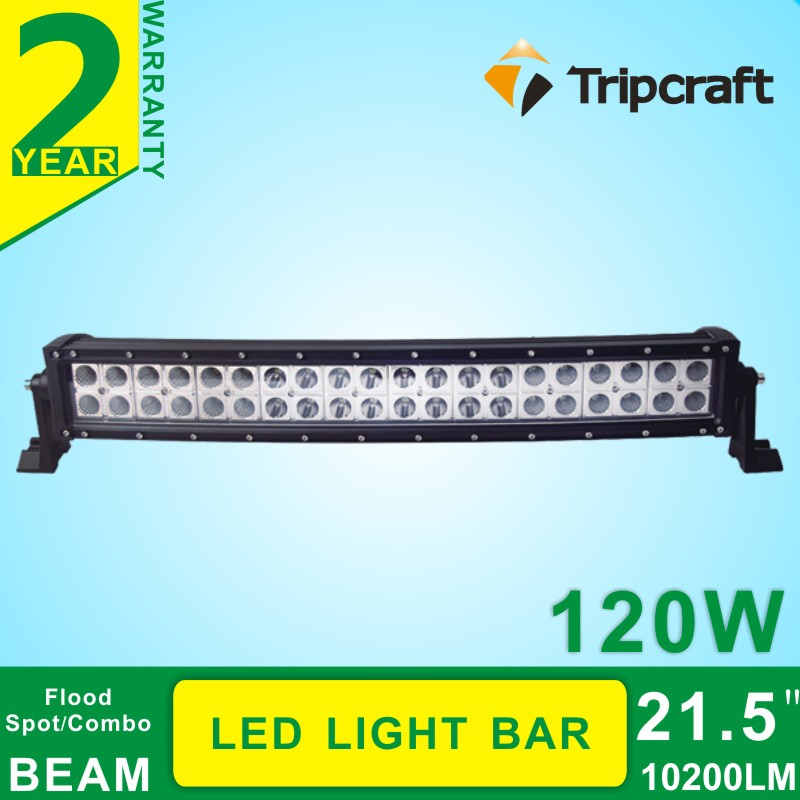 22 - 52 inch 120W LED Light Bar 5D LED Bar Curved Work Light with for Offroad Truck 4x4 4WD ATV SUV 12V