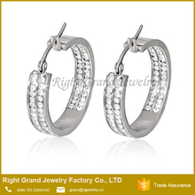 Hot Beautiful Design Hoop Crystal Pave Setting Earrings Fashion Wholesale Cheap Unique Made In China New Design Earrings