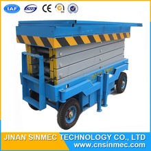 SINMEC indoor mobile scissor lift platform.vertical goods lift
