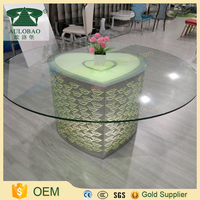 Modern style dining room furniture led used round table for sale