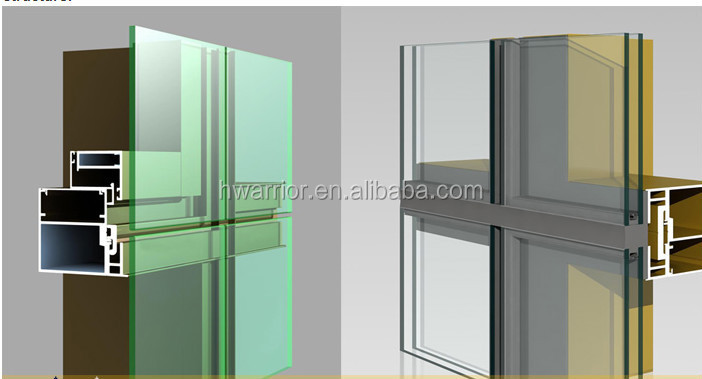 Facade structural Glass curtain wall building material