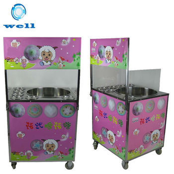 commercial cotton machine with cart