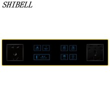 SHIBELL 2pin&3pin multifunctional socket outlet 7 gangs two way light switch