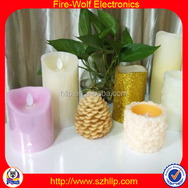 2016 Christmas Cheap customized high quality fashion New Mexico led candle wholesale