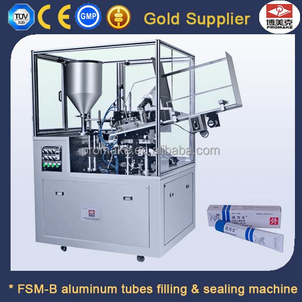 Pharmacy cream ,toothpaste automatic filling & sealing machine for aluminum tubes