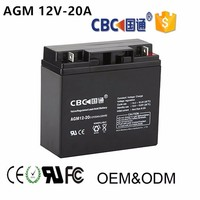 12V20AH Maintenance Free and Seal Type Solar Lead Acid Rechargeable Battery for Solar System