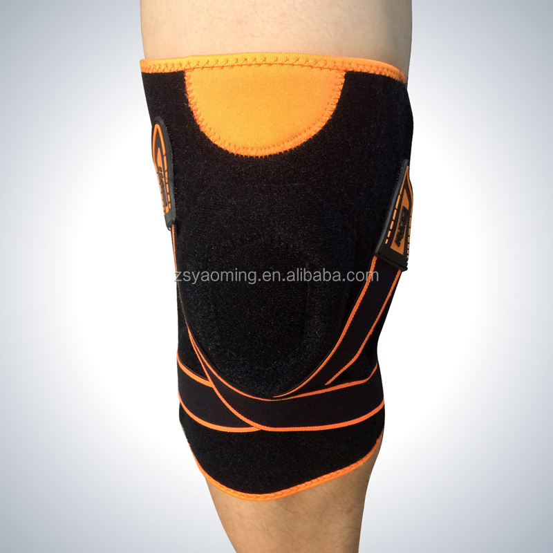 Orthopdeic steel support patella neoprene knee brace