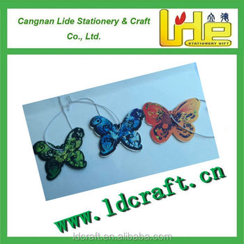 new products with best quality air freshener for car (butterfly shape, paper air freshener)