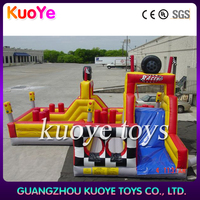 inflatable racing car obstacle course,inflatable obstacle running,obstacle courses