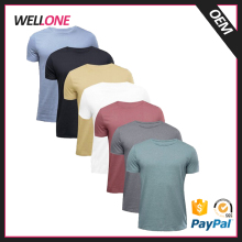 Wellone factory OEM many color cheap 50% cotton 50% polyester round neck custom plain promotional tshirts