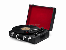 Custom design suitcase turntable player Vinyl recorder for children gift