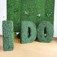 DIY different letters artificial topiary fence for outdoor decoration