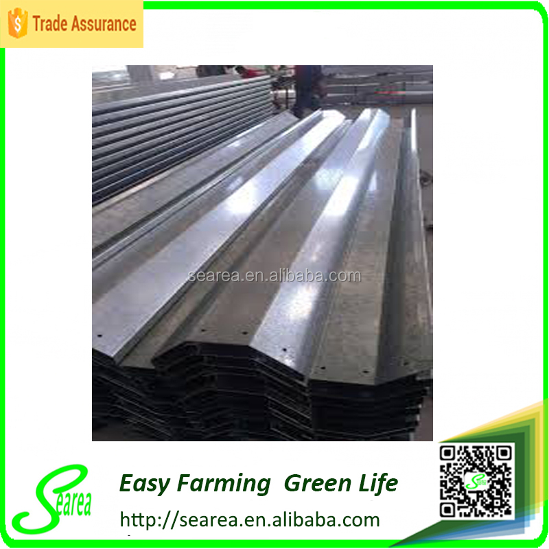 Gutters for Plastic-film Multi-span Greenhouse Frame