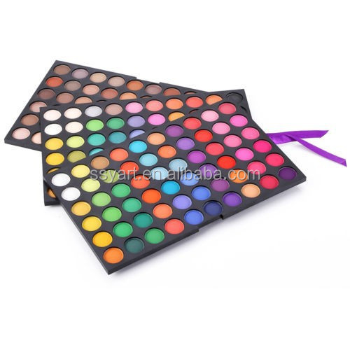 180 Color Warm, Shimmer, Matte Makeup Eyeshadow Palette (3 layers of 60 color)
