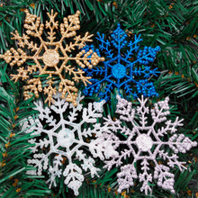 Acrylic Christmas 10CM Tree Decoration Snow Flake