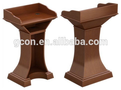 i-008 high quanlity wooden church pulpit rostrum table for churches/school/public speech power