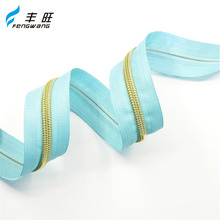 Factory wholesale custom zipper roll, coil long chain zipped nylon
