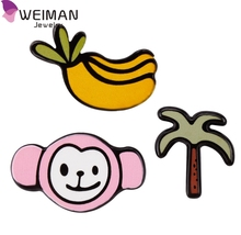 Cheap wholesale garments bags or Shoes Monkey and Banana pins accessories brooches for kids
