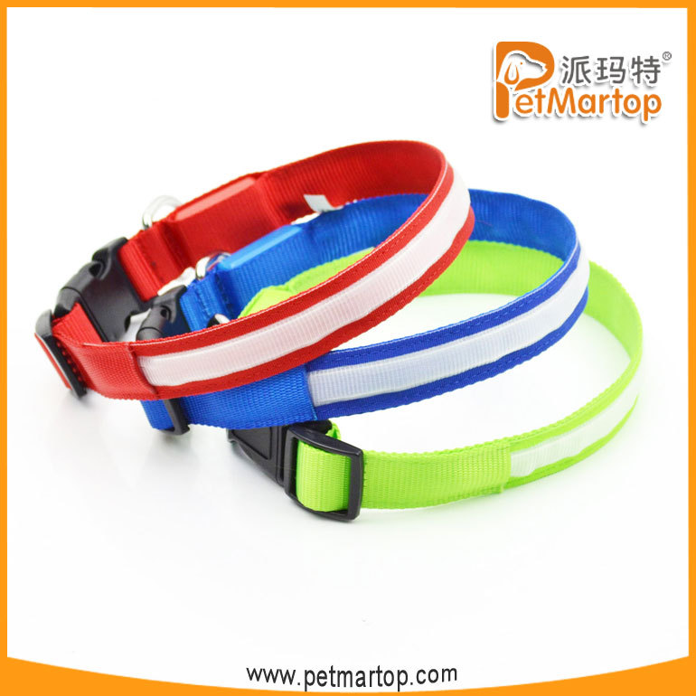2018 China wholesale customized led dog collar pet accessories dog led collar