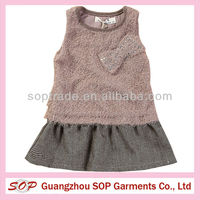 newest design lovely baby girl winter dresses