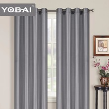 Faux Silk Plain 100%Polyester Rooms Curtains In Stock