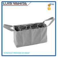 Durable Gray Canvas Nappy Bags Insert Organizer