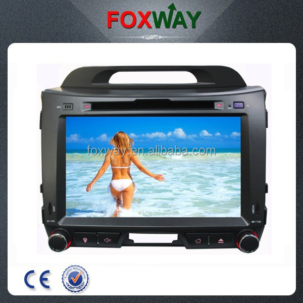 High quality 8inch 2din auto radio sportage radio dvd cd gps navigation with car multimedia system