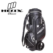 Helix golf chinese wholesale suppliers ,high quality leather bag/2016 Helix golf travel bag with wheels
