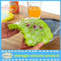 Wholesale Dishwasher Safe Custom Fancy FDA Personalized Silicone Ice Cube Tray&Custom Silicone Ice Tray
