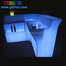 RGB Color Changing illuminated LED Light up bar counter with bucket
