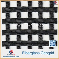 Bitumen Coated High Strength Fiberglass warp knitted Geogrid Mesh Prices