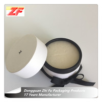 White Pearl Paper Round Jewelry Packaging