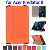 Karst Texture 3 Folding Flip Leather Cover Case for Acer Predator 8