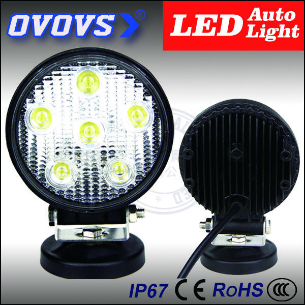 OVOVS electric motorcar 18w led 12v work lamp for atv,4x4,car accessories