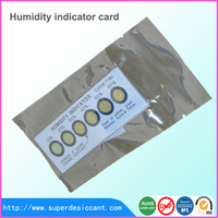 ROHS / SGS OEM free sample 6 dots Humidity indicator card