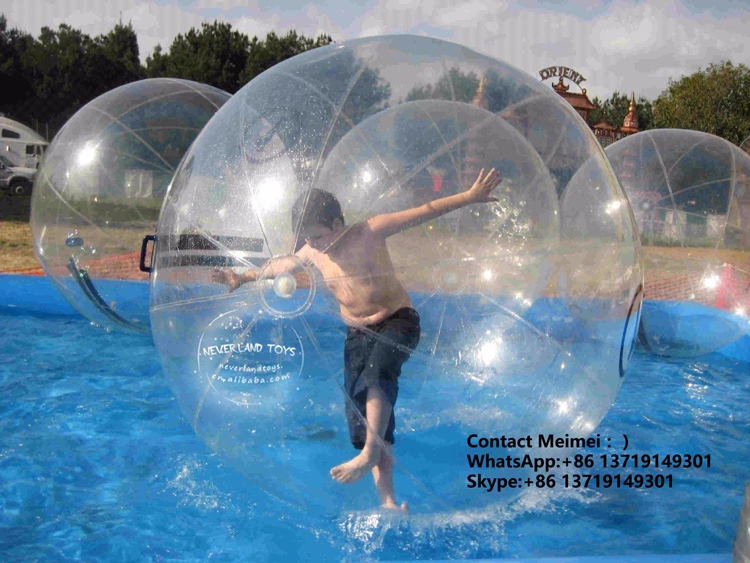 Cheap Price Crazy Fun Tpu Zorb Rolling Walking Running Bouncing Jumping Roller Balls Giant Inflatable Water Ball For Sale