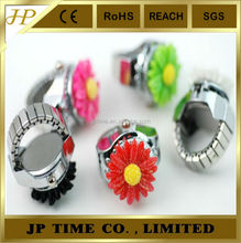 JP TIME Sunflower ring watch wholesale metal digital finger watch