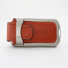 Good Quality Leather Cover 1G 2G 4G 8G 32G 64G USB Flash Memory with Embossed Logo