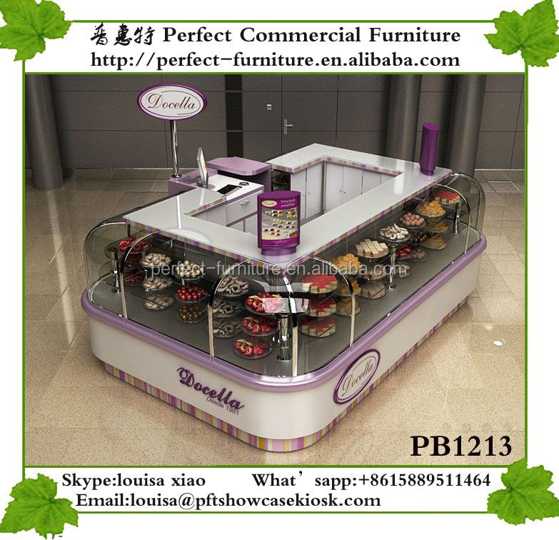 calidad de cristal pastel blanco y kiosco en el centro comercial