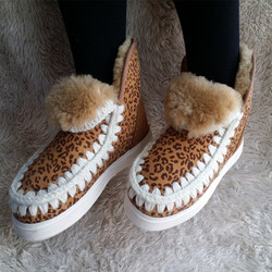 Wholesale Hand -made Snow Boots Women White Fur