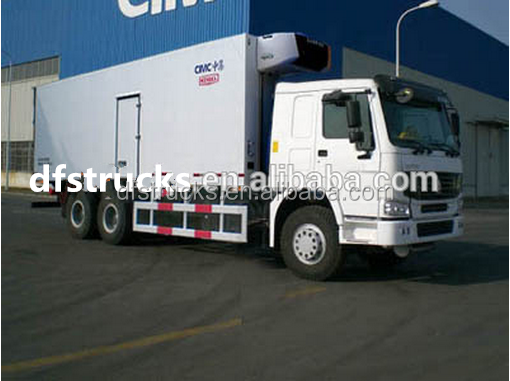 Dongfeng 6*4 refrigerated van and truck in dubai