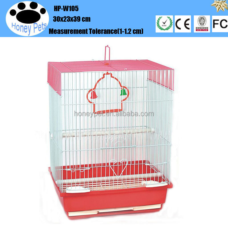 HP-W105 hand made wire mesh metal chrome bird cage