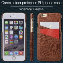 Stylish leather back cover PU phone case with business card holder colorful Anti-skid phone shell card slot
