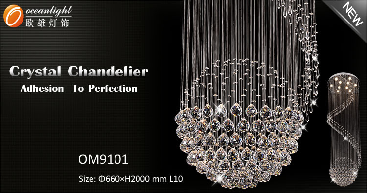 Made in China Crystal Chandeliers Pendant Light,Modern Pendant Light OM9101