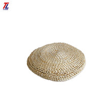 hand woven natural corn straw braids round meditation cushion yoga prayer mat for chair wholesale