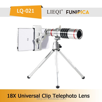 photographer Popular 18X telescope objective telesope lens for phone with universal clip zoom lens