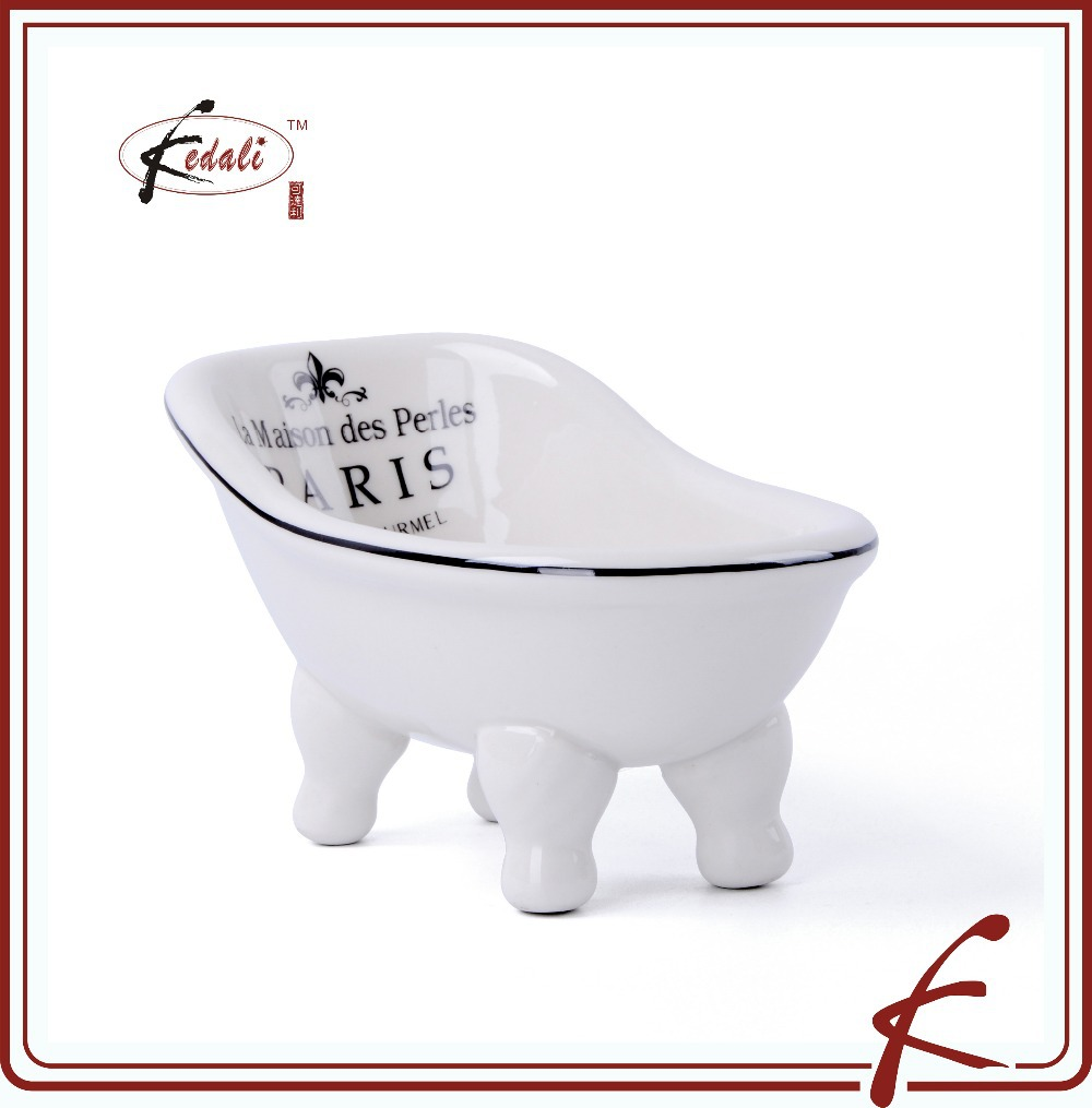 White Glaze Ceramic Bathroom Soap Dish