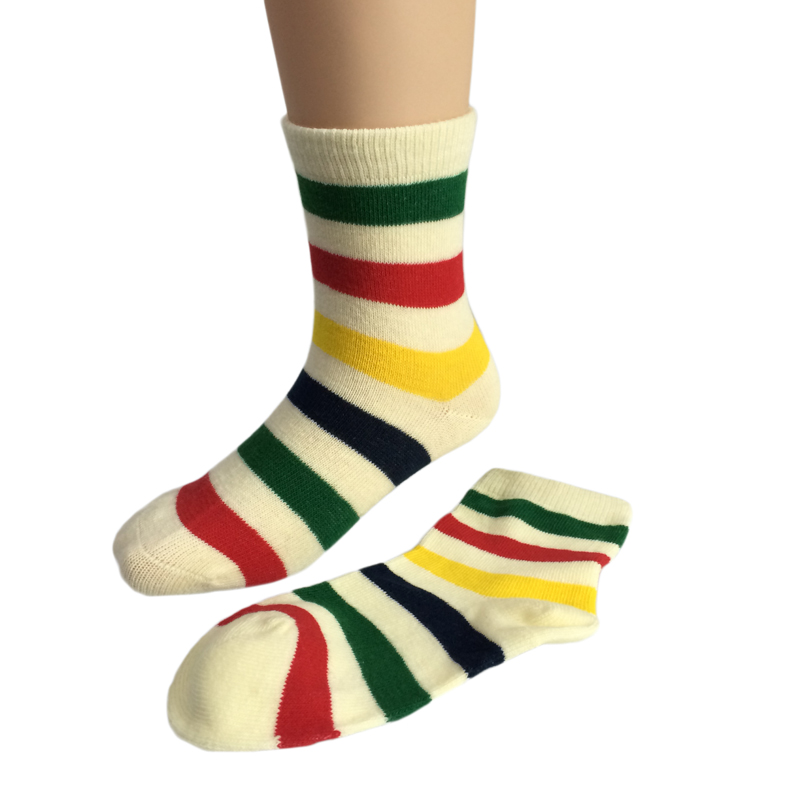 Gs Custom Colored Rainbow Stripes Cotton Socks In Dubai