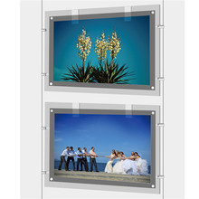 Wall mounted transparent Led Crystal Light Box Frame